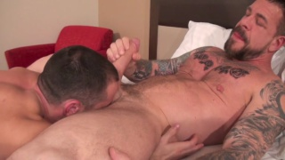 donnie dean gets filled with rocco steele's huge cock