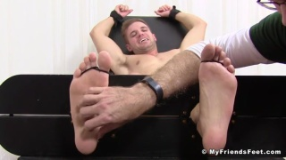 dane is extremely ticklish but tickling turns him on