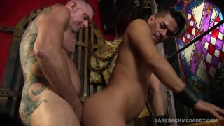 sexy daddy fucks bartender in his bar