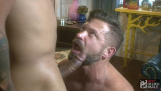 daddy gets a big brown cock up his ass