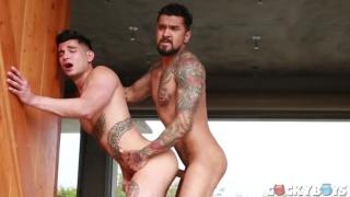 Boomer Banks fucks Ricky Roman with his giant cock