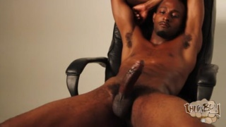 Virgil Tucker plays with his 8.5-inch cock