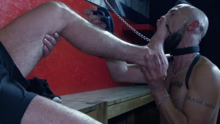 slave ordered to worship his master's feet