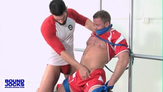 bearded bob hager face fucks roped shay michaels