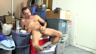 sexy daddy victor cody beats off in garage