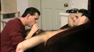 Str8 Boy gets sucked off in a comfortable chair