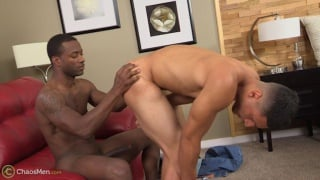 white guy gets his hole examined by black top