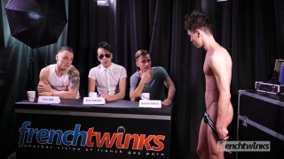 french twink in his casting video