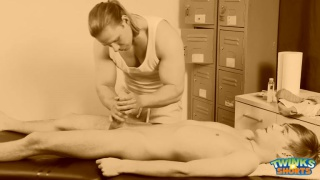 blond hunk gets twink a special massage