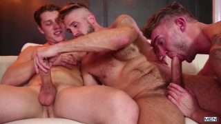 threeway fuck with Paul Canon,  Wesley Woods and Jake Ashford