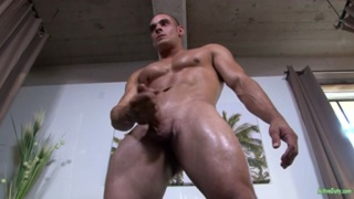 sexy stud max jacks his cock