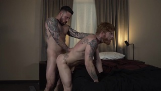 Bennett Anthony rides Jordan Levine's bare cock