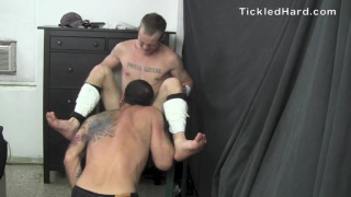 buddy gets duct taped to a tickling chair