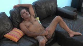 older man jacks his dick