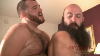 bearded men filling each other's furry holes