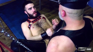 bearded cub takes silver daddy's raw cock