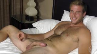handsome blond hunk josh jerks off