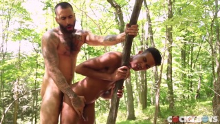 Rikk York fucks Kris Karr in the woods