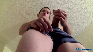 lex strokes his big hard cock
