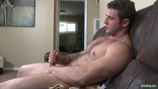 hairy stud rocke jerks his 8-inch dick