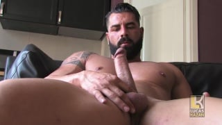 beefy italian hunk gennaro jerks his cock
