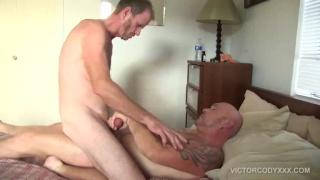 three horny men in outdoor dick sucking frenzy