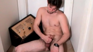 Straight Boy Gets Sticky With A blowjob Toy