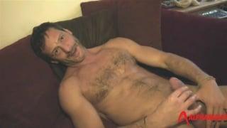 italian daddy antonio garcia jerks his cock