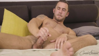 handsome bearded guy weston makes his first porno