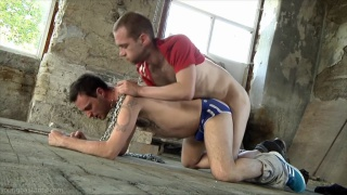 hairy chavs fuck on dirty warehouse floor