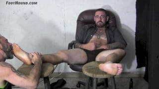 Glasses gay licking feet video