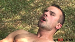Hayden Kane jacks off outdoors