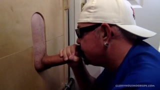 hungry dick sucker gulps some biker cock