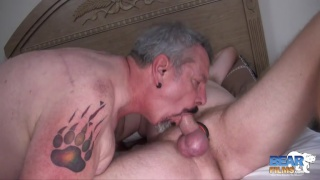 silver daddy and bearded ginger fuck around