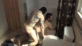 Intruder Brad Powers fucks Griffin barrows in bathroom