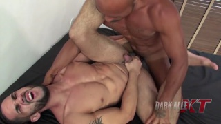 sexy latin top unleashes his huge cock on this bottom
