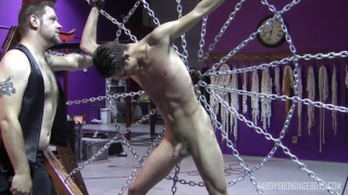 justin black restrained on web of chain