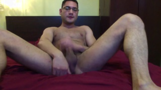 Amateur Josh Stroking His Big Dick