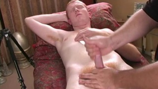 Redheaded bi guy gets a cock massage