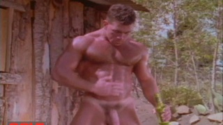Jake Tanner jacks off on the ranch