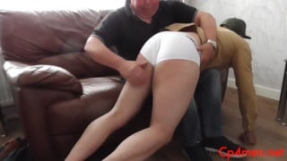 james gets an OTK warm-up spanking