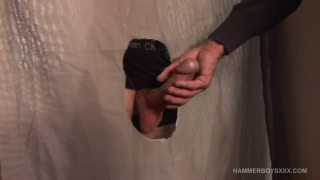 young straight guy at the glory hole