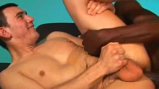 Gay interracial - white ass, black dick!