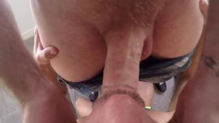 two hung men fuck on pool table