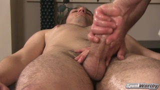 "brock gets his 6""x6"" cock serviced"
