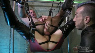 man in sling fucks another man in sling