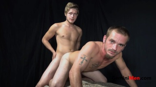 two guys enjoy using each other's holes