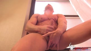 Johnny V plays with his hole while jerking off