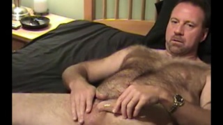 hairy construction contractor jerks off