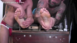 straight guy gets his size 11 feet tickled